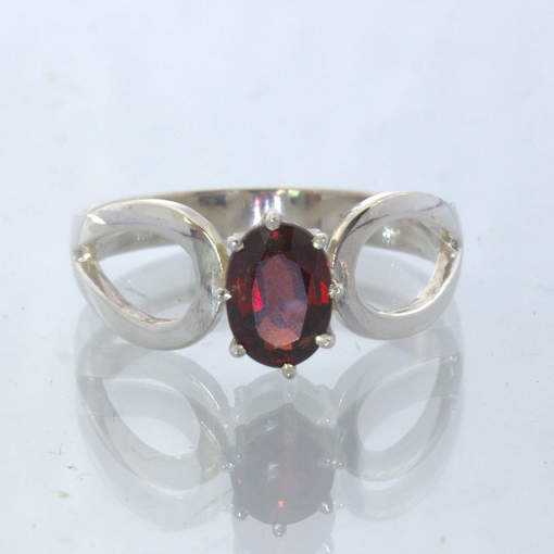 Red Burma Spinel Handmade 925 Silver Ajoure Ring size 9.5 Stacking Design 532