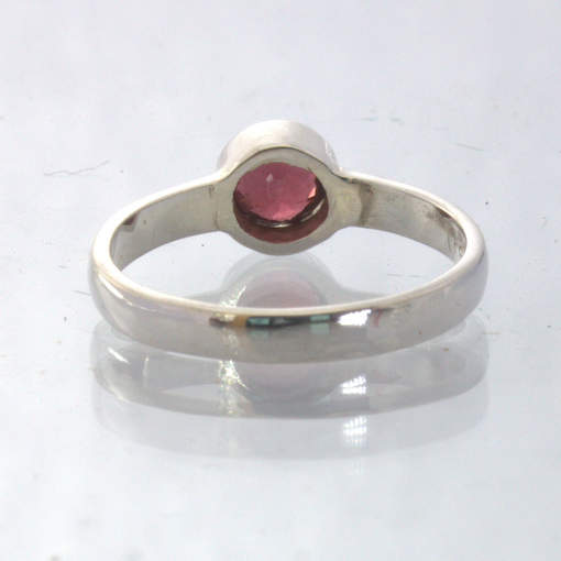 Red Spinel Handmade Silver Stackable Solitaire Ring size 7 Stacking Design 530