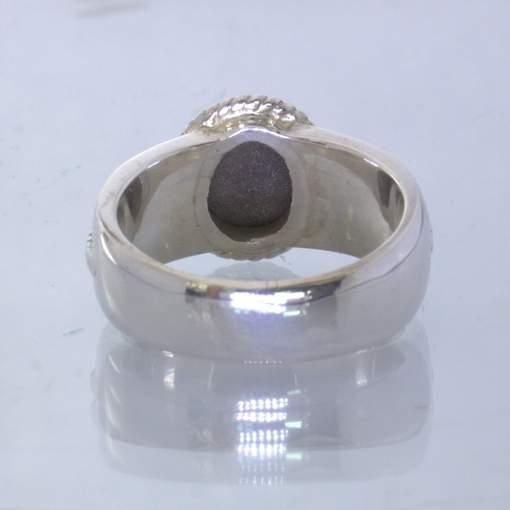 Star Sapphire Black Thailand Gemstone Handmade Silver Ring size 9.75 Design 170