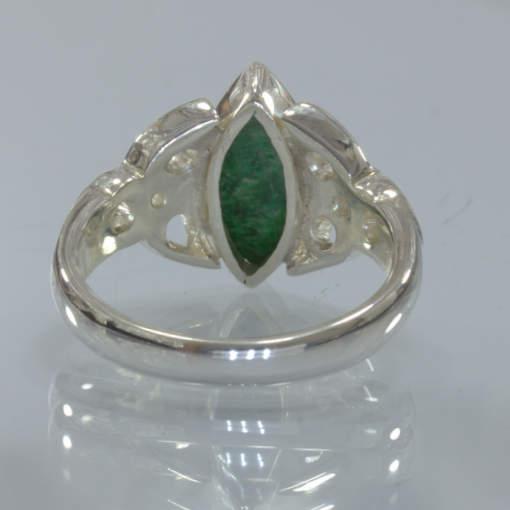 Mawsitsit Burma Maw Sit Sit Handmade Silver Ring size 10 Celtic Knot Design 328
