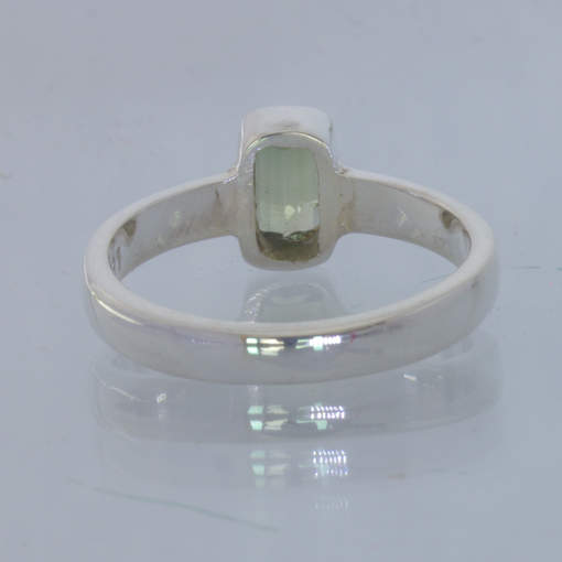 Green Tourmaline Handmade 925 Silver Stackable Ring size 5.5 Stacking Design 530