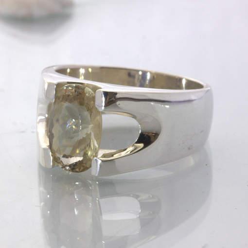 Oregon Sunstone Solitaire Handmade 925 Silver Unisex Ring size 11.25 Design 22
