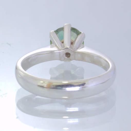 Bi Color Green Yellow Lab Quartz 925 Silver Ring size 6.25 Stacking Design 189