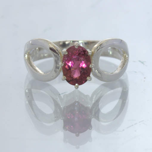 Raspberry Color Shift Gem Pink Purple Garnet Silver Ring size 5.75 Design 532