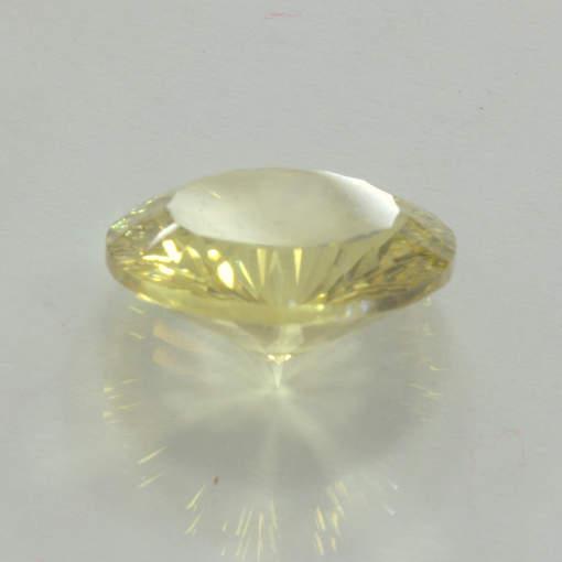 Yellow Citrine 13 mm Round Concave Cut VVS Clarity Untreated Gem 5.32 carat