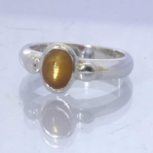 Confetti Sunstone Cross Oval Cabochon 925 Ring size 9.25 Solitaire Design 169
