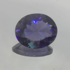 Blue Purple Iolite VS Clarity Untreated 12X10 mm Faceted Oval Gem 3.25 carat
