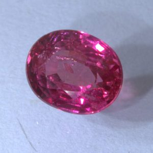 Pink Red Ruby Untreated Mozambique 6.4 x 5.2 No Heat Oval Natural Gem 1.13 carat