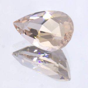 Pink Morganite Untreated VS Clarity Beryl 11 x 7 mm Faceted Pear Cut 2.06 carat
