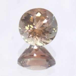 Oregon Sunstone Untreated VS Gem Faceted 6.7 mm Round Precision Cut 1.21 carat
