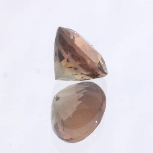 Oregon Sunstone Untreated VS Gem Faceted 6.7 mm Round Precision Cut 1.21 carat