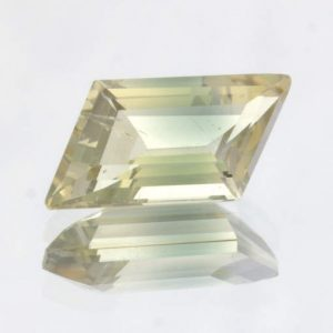 Oregon Sunstone Yellow Blue Untreated VS Fancy Parallelogram Cut Gem 2.37 carat