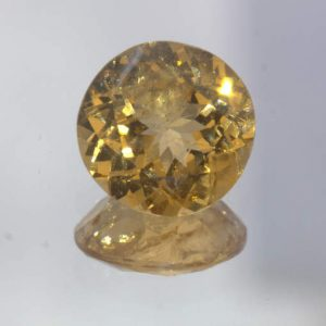 Hessonite Garnet Untreated 6.6 mm Round Cut Ceylon Gemstone 1.17 Carat