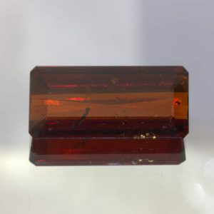 Red Tourmaline Rubellite Faceted Rectangle Cut Brazil Gemstone 5.81 Carat