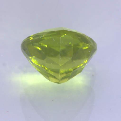 Yellow Green Burma Peridot Untreated Gem Faceted 9 mm Trillion Cut 3.37 carat