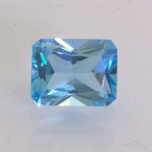 Swiss Blue Topaz Faceted 9 x 7 mm Octagon Emerald Cut VVS Gemstone 2.94 Carat
