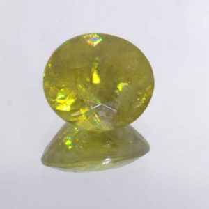 Yellow Sphene Titanite 8.8×7.7 mm Oval Cut Untreated Madagascar Gem 2.51 Carat