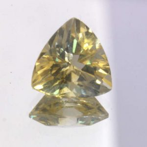 Yellow Citrine 10 mm Trillion Concave Cut VVS Clarity Untreated Gem 3.11 carat