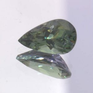 Green Zoisite Tanzanite Faceted Pear VVS Clarity Tear Shape Gemstone 1.69 Carat