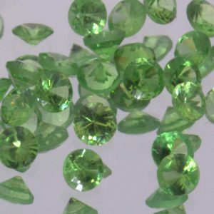 Tsavorite Green Garnet Untreated Machine Cut 2.0 mm Round Kenya VVS Gemstone