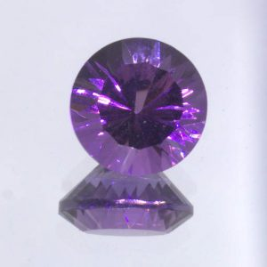 Purple Amethyst 8 mm Round Concave Cut VVS Clarity Untreated Gem 1.76 carat