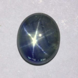 Blue Star Sapphire Translucent 11x9 mm Oval Cab Six Points Thai Gem 3.86 carat
