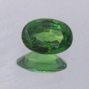 Tsavorite Green Garnet Oval Cut 5.7x4 mm VS Clarity Kenya Gemstone .44 Carat