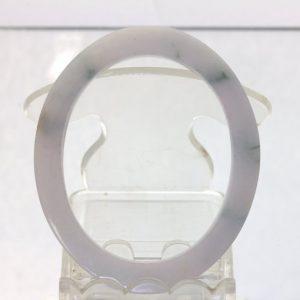 Jade Bangle Burmese A Grade Jadeite Handmade Flat Cut Oval Bracelet 51X42 mm