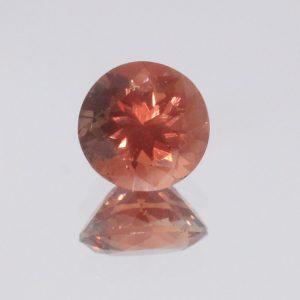 Oregon Sunstone Red Orange 6.3 mm Round Untreated VVS Minimal Shiller 0.98 carat