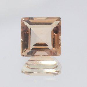 Oregon Sunstone 7 mm Princess Square Cut Gem VVS Clarity No Shiller 1.53 carat