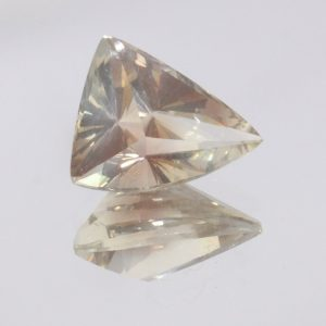 Oregon Sunstone Untreated VVS Clarity No Shiller Fancy Cut Trillion 3.06 carat
