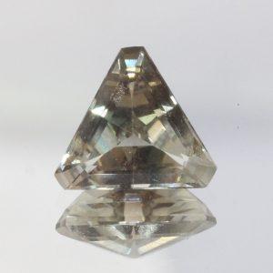 Oregon Sunstone Peach Green 9 mm Triangle VS Moderate Copper Shiller 1.96 carat
