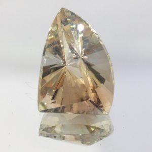Oregon Sunstone Pale Peach Color 13x9 mm Fancy Trillion VS No Shiller 4.93 carat
