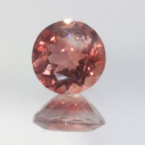 Oregon Sunstone Red Orange 5 mm Round VVS Untreated Gem No Shiller 0.41 carat