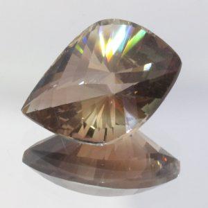 Oregon Sunstone 13 mm VVS No Copper Shiller Two Face Fancy Cut Gem 4.01 carat