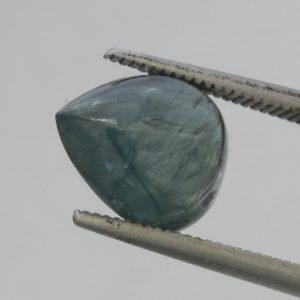 Burma Gray Blue Sapphire Pear Translucent Cab 11.4x9.3 mm Untreated 4.85 carat